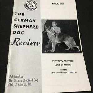German Shepherd Dog Review Single Issue March 1966